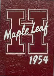 1954 Hornell Yearbook Front Cover
