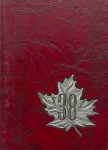 1938 Hornell Yearbook Front Cover
