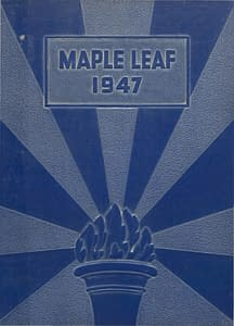 1947 Hornell Yearbook Front Cover