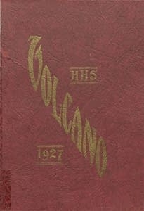 1927 Hornellsville Yearbook Front Cover