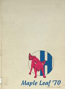 1970 Hornell Yearbook Front Cover