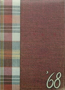 1968 Hornell Yearbook Front Cover