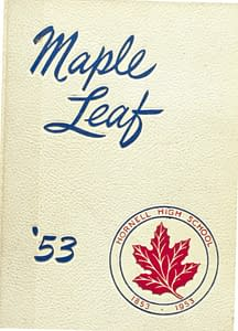 1953 Hornell Yearbook Front Cover