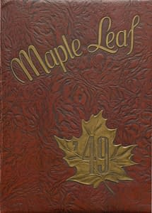 1949 Hornell Yearbook Front Cover