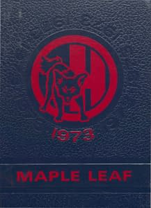1973 Hornell Yearbook Front Cover