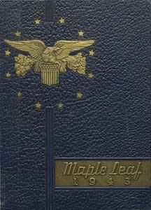 1943 Hornell Yearbook Front Cover