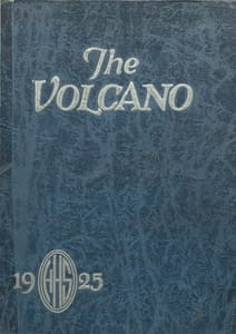 1925 Hornellsville Yearbook Front Cover