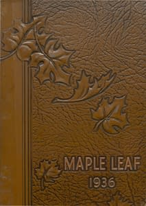 1936 Hornell Yearbook Front Cover