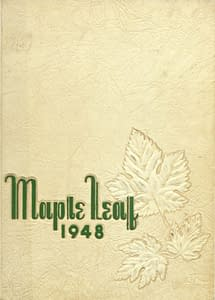 1948 Hornell Yearbook Front Cover