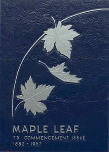 1957 Hornell Yearbook Front Cover