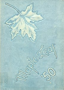 1950 Hornell Yearbook Front Cover