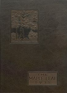 1935 Hornell Yearbook Front Cover
