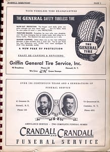 1955 Hornell Directory Page 1