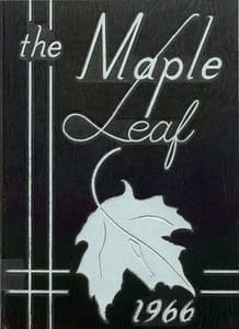 1966 Hornell Yearbook Front Cover