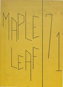 1971 Hornell Yearbook Front Cover